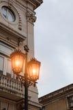 Alte Straßenlaterne, Detail einer alten Beleuchtung in der Verdichtereintrittslufttemperat Lizenzfreie Stockfotografie