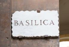 Alte Straßenplatte Basilika in Aventine-Hügel in Rom Lizenzfreie Stockbilder