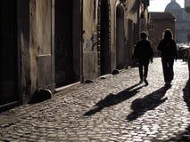 Alte Stra?e in Rom stockbild