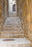 Alte Straße in Jerusalem Stockfotografie