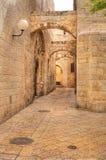 Alte Straße in Jerusalem, Israel. Lizenzfreie Stockfotografie