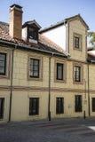 alte Straßen des Granja de San Ildefonso in Madrid, Spanien Lizenzfreie Stockbilder