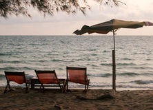 Alte Strandstühle Lizenzfreies Stockbild