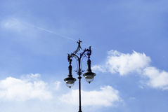 Alte Strassenlaterne in Berlin. Old Street Light in the old town centre of Berlin, Germany Stock Photos