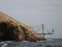 Alte Struktur in Ballestas-Insel Stockbilder