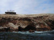 Alte Struktur in Ballestas-Insel Lizenzfreie Stockfotografie