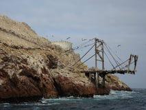 Alte Struktur in Ballestas-Insel Lizenzfreies Stockfoto
