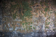 Alte strukturierte bunte Wand mit Flecken Lizenzfreie Stockfotografie
