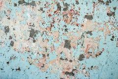Alte strukturierte bunte Wand mit Flecken Stockfoto