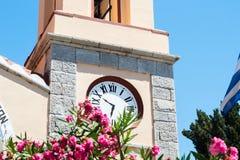 Alte Stunden auf einem Turm Lizenzfreies Stockfoto