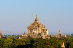 Alte Sulamani-Tempel von bagan bei Sonnenaufgang Stockfotografie