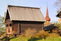 Alte Swedish-Hütte Stockfotografie