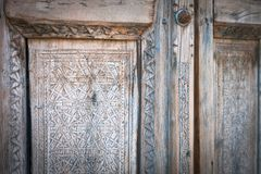 Alte Tür in Bukhara, Usbekistan Stockfotografie
