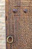 Alte Tür in Bukhara, Usbekistan Lizenzfreies Stockbild