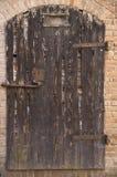 Alte Tür des Holzes Stockfotografie