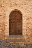 Alte Tür des Holzes Stockfoto