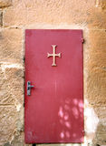 Alte Tür des Klosters Stockfotos