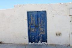Alte Tür Griechenlands Santorini Stockbild