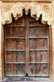 Alte Tür in palas. Khajuraho, Indien Stockfotografie