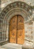 Alte Tür- und Detailarchitektur - Sacra di San Michele, Italien Lizenzfreies Stockbild