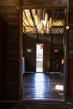 Alte Tür und Glanz Stockbild