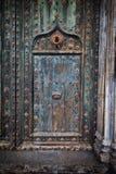 Alte Tür zu Girona-Kathedrale Lizenzfreies Stockbild
