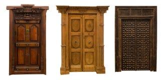 Alte Türen stellten 3 ein Stockfotografie