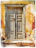 Alte Türen von griechischen Inseln Lizenzfreies Stockbild