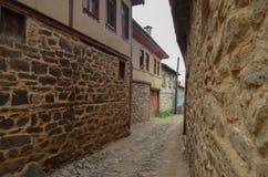 Alte türkische Stadt an Bursa-Stadt stockfotografie
