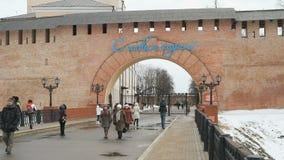 Alte Türme von Novgorod der Kreml, V Novgorod, Russland stock video