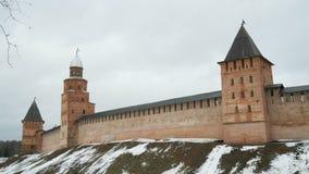 Alte Türme von Novgorod der Kreml, V Novgorod, Russland stock footage