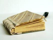 Alte Tagebuch- und Schreibensfeder Stockfotografie