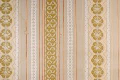Alte Tapete 70s Stockbild