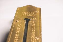 Alte Taschen-Balance Lizenzfreies Stockfoto