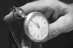 Alte Taschen-Uhr stockbild