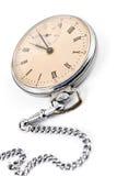 Alte Taschenuhr mit Kette Lizenzfreies Stockfoto