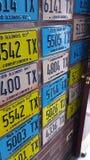 Alte Taxi-Platten Stockbild