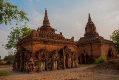 Alte Tempel in Bagan, Myanmar birma Lizenzfreie Stockfotografie