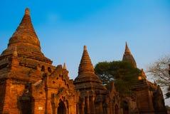 Alte Tempel in Bagan, Myanmar birma Lizenzfreie Stockbilder