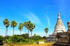 Alte Tempel in der archäologischen Zone, Bagan, Myanmar Stockbilder