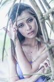 Alte thailändische Frau im traditionellen Kostüm von Thailand Lizenzfreies Stockfoto