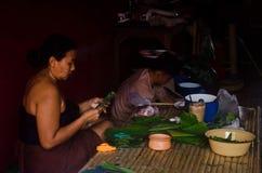 Alte thailändische Leute Stockfoto