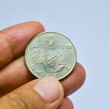 Alte thailändische Münze ein Baht Lizenzfreies Stockfoto