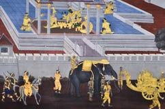 Alte thailändische Wandmalerei Stockbilder