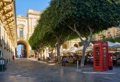 Alte Theater-Straße, Valletta, Malta Lizenzfreies Stockfoto