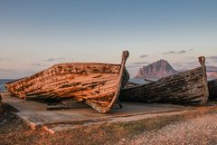 Alte Thunfischboote Stockfotografie