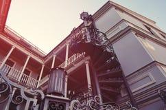 Alte Tiflis-Häuser Lizenzfreies Stockfoto