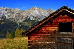 Alte Tiroler Alpe Stockfotos
