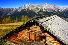 Alte Tiroler Alpe Lizenzfreies Stockbild