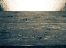 Alte Tischplatte und Hintergrund von einem Rausschmiß Horizontale Abbildung Lizenzfreie Stockfotos